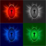 Keyholes on shiny backgrounds Royalty Free Stock Photo