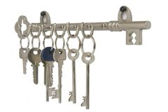 Keyhooks Stock Photo
