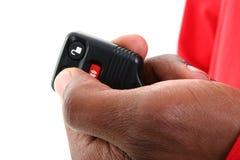 keyless remote för alarmbiltillträde Arkivfoton