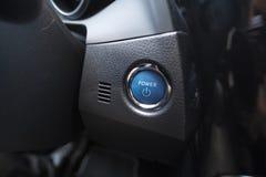 Keyless samochodowy władza guzik dla parowozowego początku Zdjęcia Stock