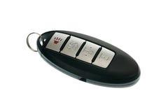 Keyless wireless door opener fob. Black modern car door opener and keyless entry device Royalty Free Stock Image