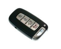 Keyless wireless door opener fob. Black modern car door opener and keyless entry device Royalty Free Stock Photo