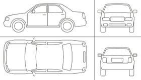 Keyline do carro de passageiro Imagem de Stock Royalty Free