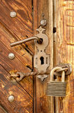 keylockpadlock Royaltyfri Bild