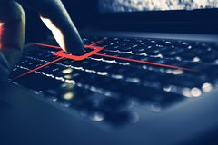 Keylogger Computer Spy. Concept. Recording Each Keyboard Button Strike royalty free stock images