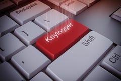 Keylogger het zeer belangrijke 3d teruggeven Royalty-vrije Stock Afbeeldingen