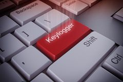Keylogger key 3d rendering royalty free stock images