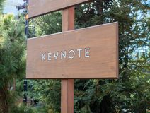 Keynote wooden sign post providing direction stock images