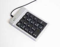 Keypad. Notebook Keypad isolated on white Royalty Free Stock Image