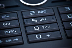 Keypad. A closeup of the keypad of a cell phone Royalty Free Stock Images