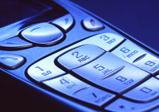 Keypad. Of a cell phone Stock Photography