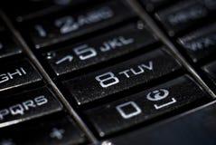 Keypad. Closeup Keypad on a Cell Phone Royalty Free Stock Image