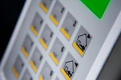 Keypad. Close up image of a Security keypad royalty free stock image
