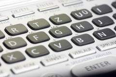 Keypad. Details of a dictionary by casio Royalty Free Stock Photos