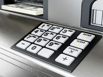 Keypad of an ATM or Automated Teller Machine. 3D illustration Royalty Free Stock Image