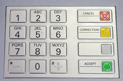 Keypad atm macro Royalty Free Stock Photography