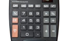 Keypad of black calculator Stock Photos