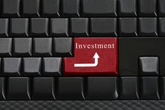 Keypad of black keyboard and have text investment on enter butto Stock Photography