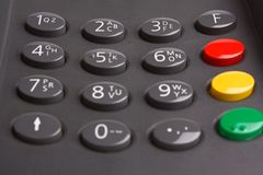 Keypad with buttons Royalty Free Stock Image