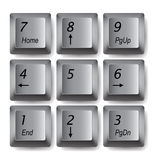 Keypad buttons Royalty Free Stock Photos