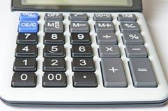 Keypad calculator. Keypad calculator closeup. Front focus Stock Photography