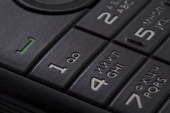 Keypad of a cellphone Royalty Free Stock Photos