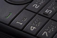 Keypad of a cellphone. Keypad of a black cellphone Royalty Free Stock Photos