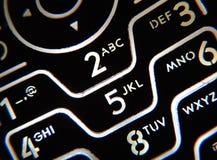 Keypad. Closeup of a phone keypad with keys backlight Stock Image