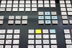 Keypad of CNC control panel. Close up of keypad of CNC control panel. Selective focus Royalty Free Stock Image