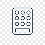 Keypad concept vector linear icon isolated on transparent backgr royalty free illustration