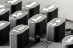 The keypad. Keypad dismounted from the device shown up close Stock Photo