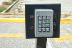 Keypad Door Entry System Royalty Free Stock Images