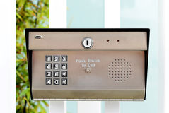 Keypad entry. Image of a business security entry keypad Royalty Free Stock Photos