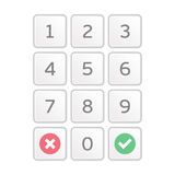 Keypad entry vector. Stock Images