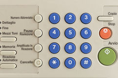 KEYPAD A FAX Stock Photography