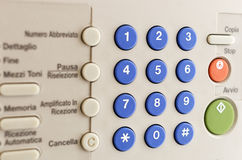 KEYPAD A FAX Royalty Free Stock Images