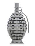 Keypad grenade. The keypad grenade. 3D render Stock Photography
