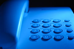 Keypad on a landline telephone Stock Photos