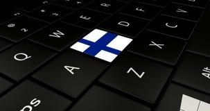 Keypad laptop. Keypad laptop With flag Finland Royalty Free Stock Photo