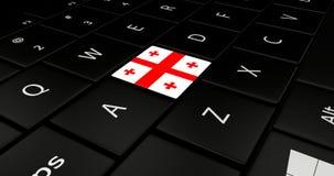 Keypad laptop. Keypad laptop With flag Georgia Royalty Free Stock Photography
