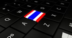 Keypad laptop. Keypad laptop With flag Thailand Royalty Free Stock Images