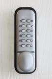 Keypad lock. On the door stock photography