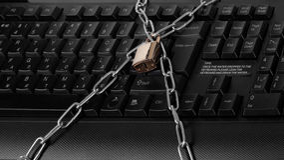 Keypad on the lock Stock Image