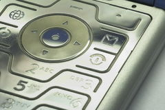 Keypad of a mobile phone 01. Details of a motorola mobilephone Stock Photo