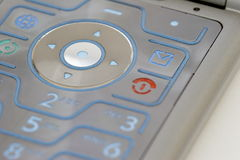 Keypad of a mobile phone 02. Details of a motorola mobilephone Stock Photo