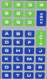 Keypad. With numbers and letters Stock Photos