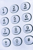 Keypad with numbers and letters Royalty Free Stock Photo