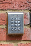 Keypad with 10 numbers Stock Photo
