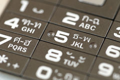 Free Keypad Of A Cell Phone Number. Royalty Free Stock Images - 73100539