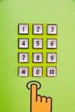 Keypad. Public telephone Keypad , closed up Stock Images